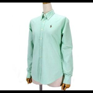 Women's Ralph Lauren Mint Green button down